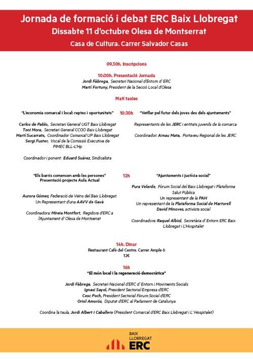 Jornada de Formaci�� i debat ERC Baix Llobregat